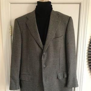 Ermenegildo Zegna men 2Btn black tan tweed blazer